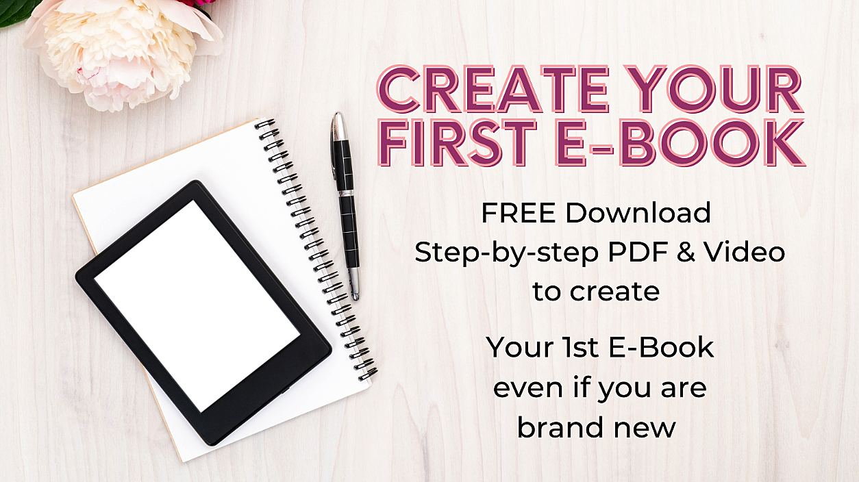 Create Your First E-Book